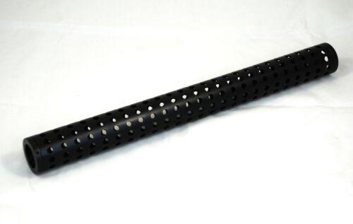 "Universal Aluminum Black Ported Shroud - fits 1"" OD Paintball barrel - 15"""