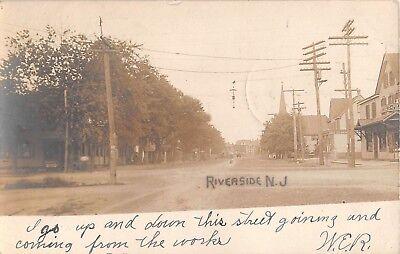 1906 RPPC Stores Pine's Pharmacy Corner Pavillion & Scott Streets Riverside (Pavillion Stores)