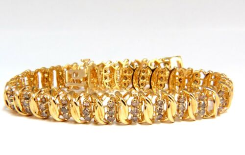 2.00ct Natural Brown Diamond Link Bracelet 14kt
