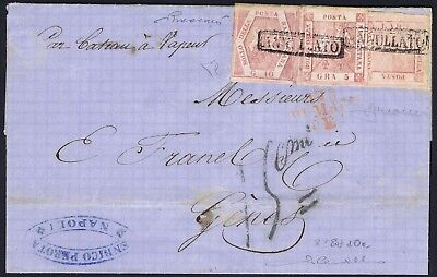 Tuscany 1858 1g 5g and 10g Rose Lilac Superb 3 value franking Diena Certificate