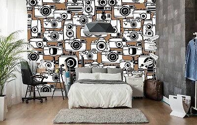 3D Kameras Braun 7111 Tapete Wandgemälde Tapete Tapeten Bild Familie DE