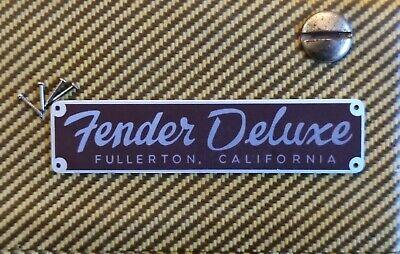 NAMEPLATE REMAKE FENDER Tweed Deluxe 5e3 Amp Logo