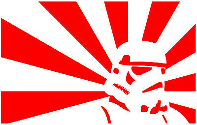 Star Wars Stormtrooper Rising Sun Vinyl Decal Sticker Car Van Laptop Tablet Wall