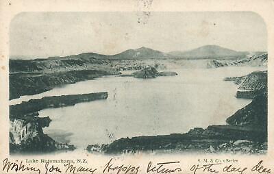 1904 VINTAGE LAKE ROTOMAHANA NZ POSTCARD sent to Tattersalls heir in Turramurra