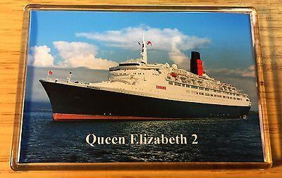 Cunard Line QE2 Large Fridge Magnet Cruise Ship Ocean Liner