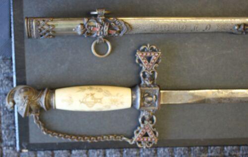 Vintage Knights Templer Sword  Rare Handle Pettibone & Bros.
