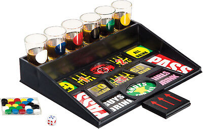Home Essentials Adult Funville Drinking Party Game with One Ounce Shot Glasses
