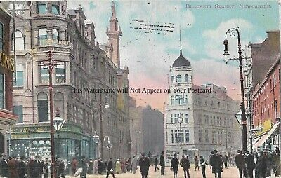 Newcastle on Tyne Blackett Street 1907 Vintage Postcard 20.3