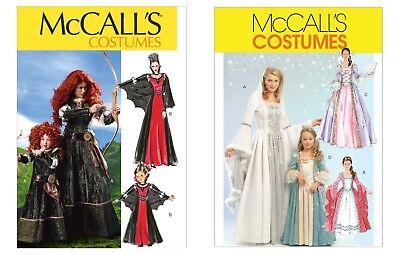 McCalls Schnittmuster Hofdamen Kostüme M6817, M5731 inkl. GRATIS NÄHZUBEHÖR