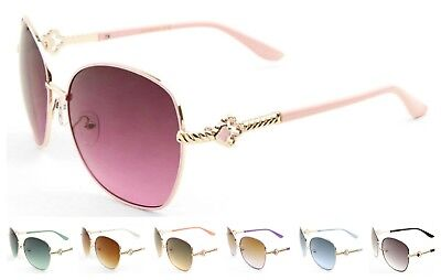 Wholesale 12 Pair Metal Aviators Sunglasses w/Oceanic Color Lens - Assorted