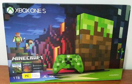Xbox One S 1TB Minecraft Limited Edition Console + Minecraft Game