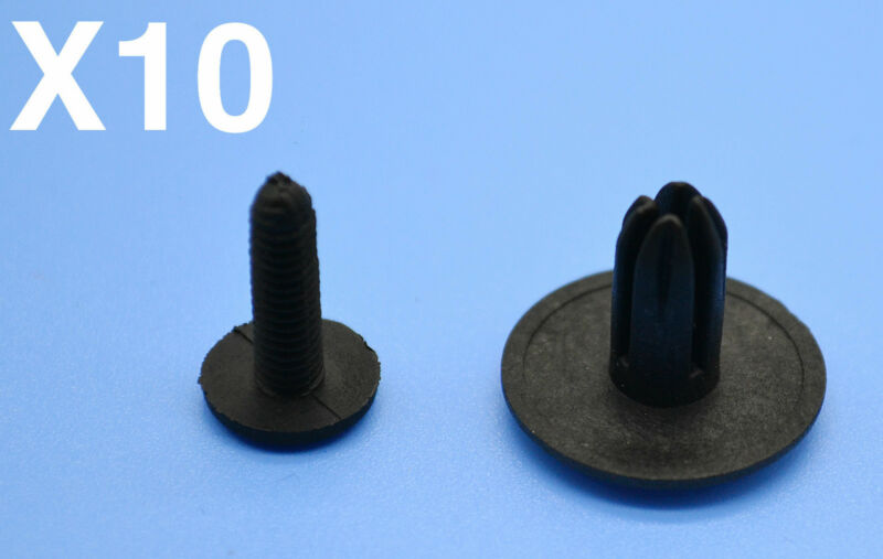 LAND ROVER BLACK PLASTIC RIVET TRIM PANEL RETAINER FASTENERS CLIPS