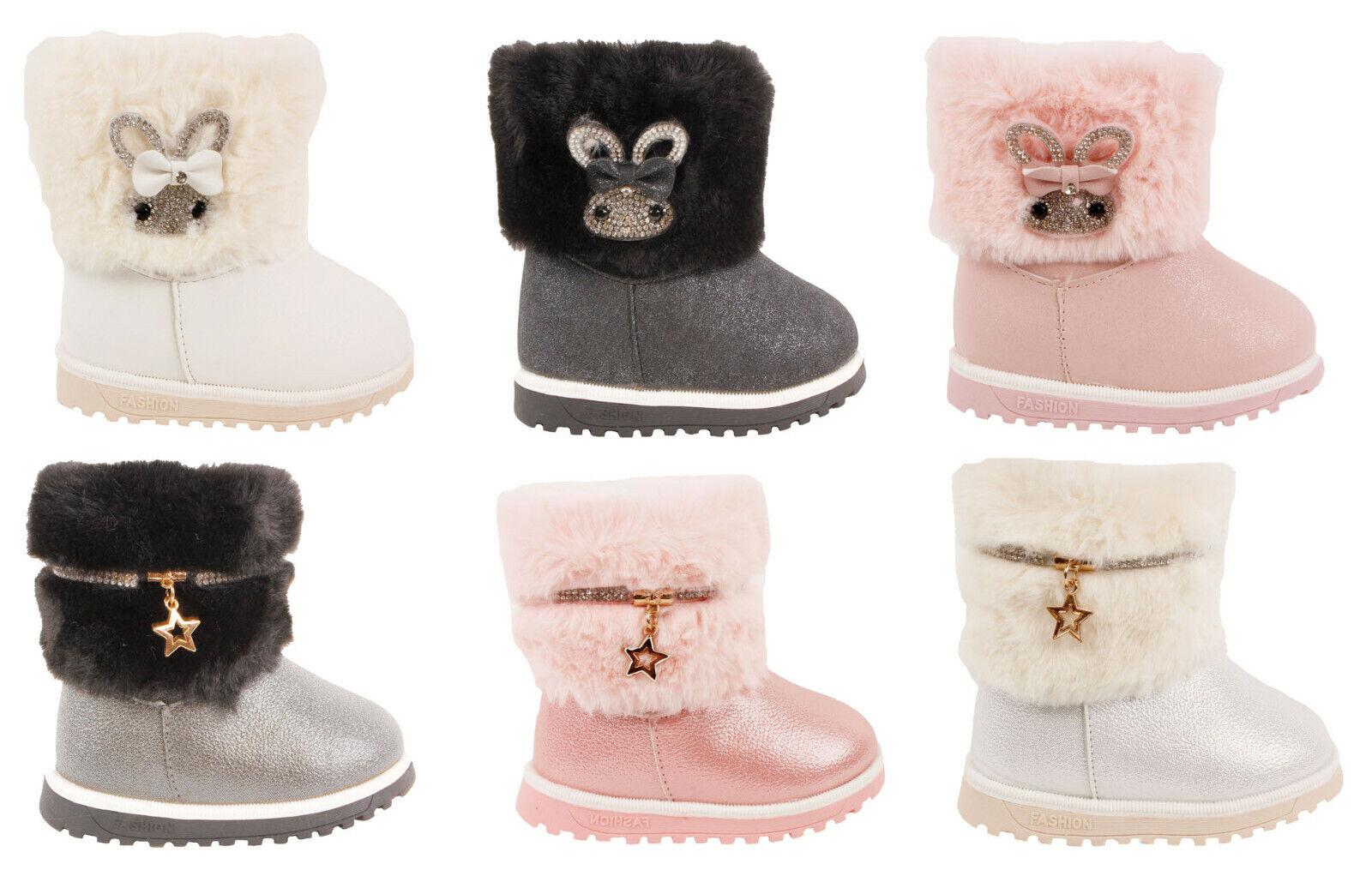 Kinderschuhe Stiefel Stiefeletten für Baby Mädchen Boots Warme Winterschuhe Neu