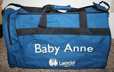 Laerdal 4 Pack Baby Anne Infant Cpr Manikins Soft Carry Case Duffle Storage Bag