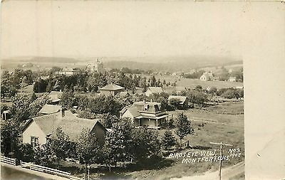 Wisconsin Chick - Wisconsin, WI, Montfort, Bird's-Eye View 1908 Real Photo Postcard
