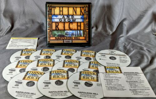 Think And Grow Rich 11 CD + Workbook CD Nightingale Conant Audiobook Unabridged