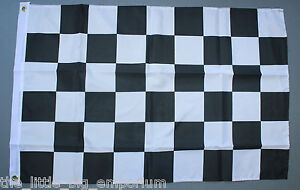 Checkered Finish Line Flag New Black White Chequered Motor Racing