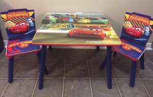 Cars Wooden Table and Chairs