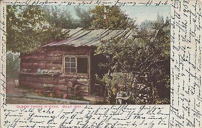 Postcard UT Oldest House in Utah 1847 Postmarked 1906