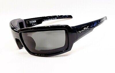 NEW Wiley X Titan Sunglasses Shiny Black / Gray Polarized (Titan Sunglasses)