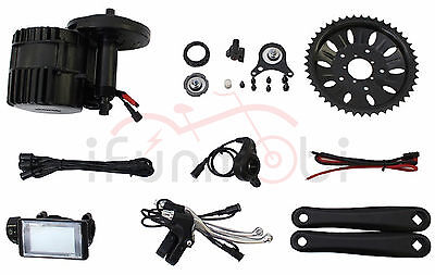 Bafang/8Fun 48V 1000W BBS03 Mid-Drive Motor Ebike Conversion Kits With LCD Panel
