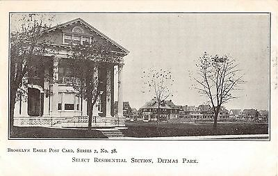 C 1905 Homes Select Residential Section Ditmas Park Ny Post Card Brooklyn
