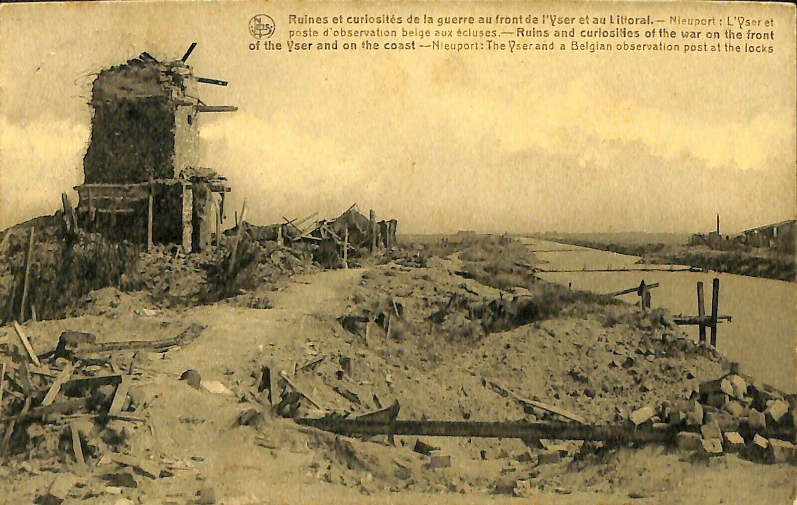 CPA - Belgique - Nieuwpoort - Nieuport - Poste d'observationbelge aux écluses
