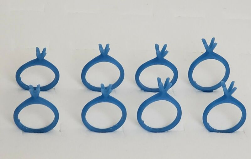 Lot of 8 Classic Solitaire Rings. 4 sizes.Wax Patterns , lost wax casting 21-120