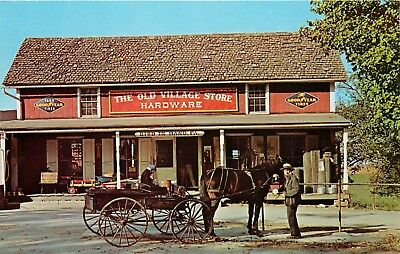 Old Village Store Hardware Bird In Hand Amish Patron Pa Goodyear Tires Postcard