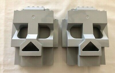 LEGO Light Gray Rock Panel Lot of (2) 4x10x10 Castle SKULL ISLAND 3827