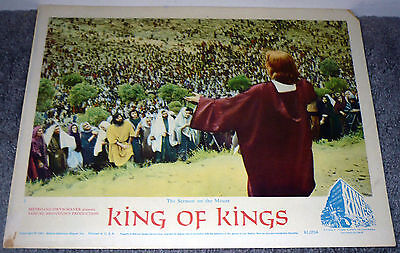 KING OF KINGS movie lobby card SERMON ON THE MOUNT original 1961 11x14 (King Of Kings Sermon On The Mount)