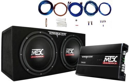 "MTX Terminator TNP212D2 1200W Dual 12"" Sub AND Box AND Ampli"