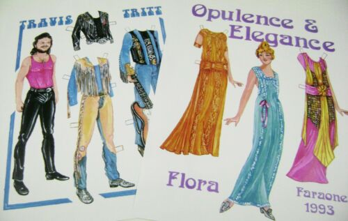 VTG PAPER DOLLS 1993 CONVENTION 1920s FLORA PLUS TRAVIS TRITT by JIM FARAONE