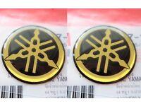 2 x Yamaha Tuning Fork Sticker Decal YZF R1 R6 YZ FZ1 FZ6 FZS *GENUINE YAMAHA*