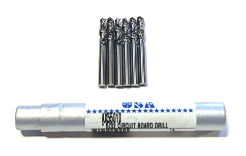 "5/32"" Solid Carbide Circuit Board Drill 6 Pack USA Made"