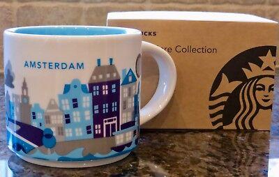 NWT Starbucks AMSTERDAM You Are Here YAH Collector Series Mug with SKU