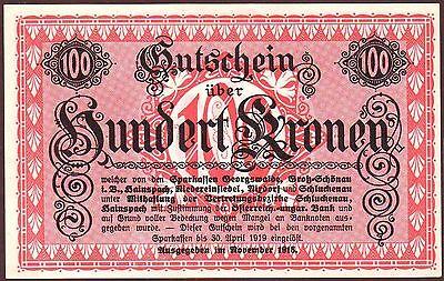 Austria - GEORGSWALDE   100 Kronen 1918   UNC