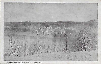 (Birdseye View of Cutler Hill, Eddyville NY Handsome vintage postcard unused)
