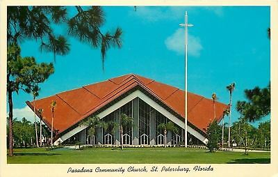 St Petersburg Florida Pasadena Community Church Seats 2000 1960