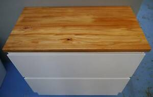 New Castano Wattle Timber Top & Firenze Universal Vanity Cabinet Melbourne CBD Melbourne City Preview