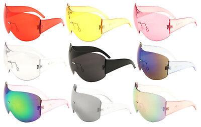 ALPS RIMLESS OVERSIZED SHIELD MONO LENS FUTURISTIC SUNGLASSES GOGGLES ONE (Futuristic Goggles)