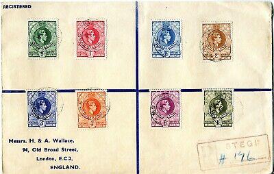 Swaziland 1948 KGVI Registered Cover to England
