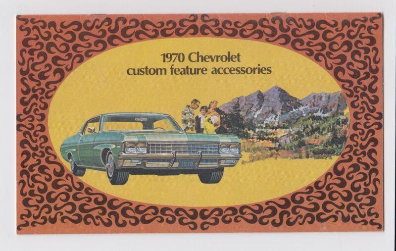 1970 Chevrolet Custom Features Accessories Brochure Catalog