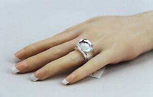 BACCARAT JEWELRY TANGO MIRROR CLEAR CRYSTAL RING SZ 53 NEW MADE IN FRANCE
