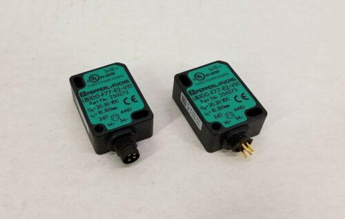(2) Pepperl + Fuchs UB100-F77-E2-V31 Ultrasonic Direct Detection Sensor
