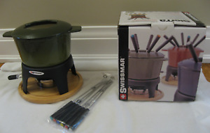 Swissmar  Sierra 11-PC Enamelled Cast Iron Fondue Set-Green-NEW