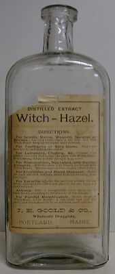 1880's Distilled Extract Witch-Hazel Bottle - Portland, ME