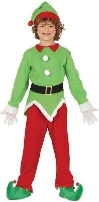 Boys Girls North Pole Elf Christmas Xmas Festive Fun Fancy Dress Costume Outfit (North Pole Elf Kostüm)