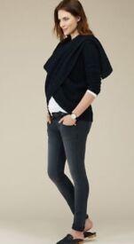 Isabella Oliver black maternity skinny jeans size 3