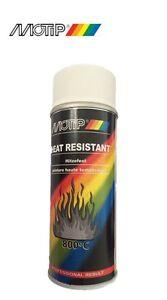 bombe spray peinture motip blanc haute temp rature 800 echappement pot paint ebay. Black Bedroom Furniture Sets. Home Design Ideas